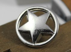 Items similar to Metal Buttons - Ring Star Metal Buttons , Silver Color , Shank , inch , 10 pcs on Etsy Shank Button, Button Button, Star Buttons, Black Enamel, Silver Color, Stars, Metal, Rings, Free