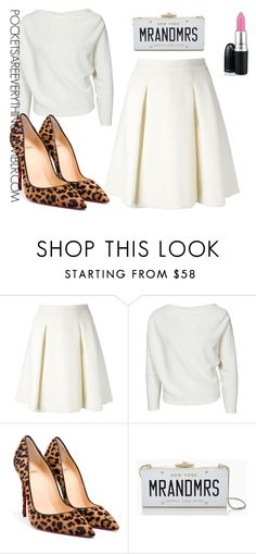 Winter White by adoremycurves on Polyvore featuring Ermanno Scervino, Christian Louboutin and Kate Spade