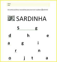 A Joana Marques  do blog Trabalhinhos J Infância  partilha estes dois recursos adequados aos Santos Populares. Math Equations, Blog, Writing Words, Writing, Saints, Activities, Dolphins, Lyrics