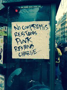 My favorite poster from today's huge march in Paris, on a phone booth near Nation #JeSuisCharlie - Découvrez une de nos vidéos :) http://studiocigale.fr/films/?catid=1&slg=temoignages-clients-keune-business-video