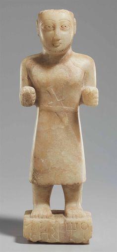 A SOUTH ARABIAN ALABASTER FIGURE OF YAHMI-IL CIRCA 2ND-1ST CENTURY B.C. | Christie's