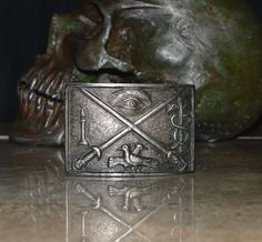Secret Society / Fraternal Antique Belt Buckle  by CosmicLibrary, $69.95