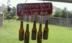 Making this..with craft beer bottles lol