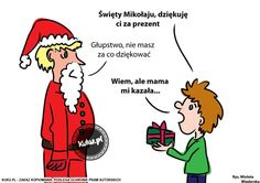 """Komiks """"Św.Mikołaju dziękuję Ci za prezent"""" (źródło: http://kuku.pl)"""