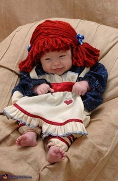 charity my 3 12 month old daughter camille is raggedy ann this year baby halloween costumesbaby