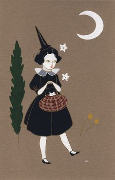 Nice Halloween illustration. Starry Gifts