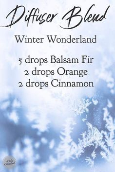 Enjoy this Winter Wonderland blend with the benefit of Young Living essential oils. Essential Oil Diffuser Blends, Essential Oil Uses, Young Living Oils, Young Living Essential Oils, Essential Oil Christmas Blend, Oils For Sinus, Coconut Oil Pulling, Aromatherapy Recipes, Diffuser Recipes
