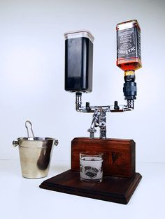 Handmade Wooden alcohol mixer dispenser / liquor dispenser /