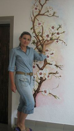 Best Ideas For Room Decor Wall Paint Tree Murals Tree Wall Painting, Mural Painting, Plaster Art, Plaster Walls, Concrete Art, Deco Floral, Mural Wall Art, Vintage Design, Cool Rooms