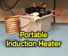 Hey guys, this is my portable induction heater that can be powered either with batteries or connected to a power supply. You can use this to heat metals well above 1500 degrees Fahrenheit. I have made different attachments for cooking, releasing seized bolts, a solder pot attachment, and more. Take it camping or just use it around the shop to heat up different materials.