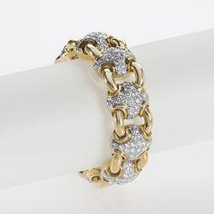Gold and Diamond Link Bracelet by Tiffany & CO.