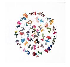 mandala no.1 - from the nouveau boheme series, floral, minimalist, modern, nursery, decor, watercolor, art print, giclee, circle, mandala