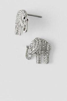 Eddie The Elephant Stud Earrings in Silver