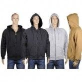 Wholesale Bulk Mens Thermal Zip Front Jacket With Sherpa Lining.