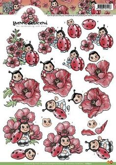 knipvellen - Поиск в Google Creation Image, Christmas Sheets, Decoupage Printables, Decoupage Ideas, Lady Bug, Image 3d, Cut Animals, 3d Sheets, Bug Crafts