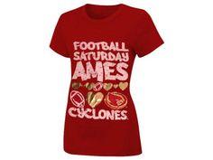 LOVE my Cyclones NCAA Womens Jersey Crew T-Shirt  $24.00