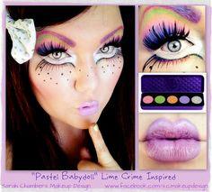 Cute DIY Halloween makeup inspiration for a sexy clown www.facebook.com/S.C.MakeupDesign