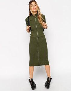 ASOS co-ord Skirt In Rib Knit at asos.com #skirt #women #covetme