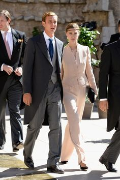 Pierre Casiraghi and girlfriend Beatrice Borromeo attend the Religious Wedding Of Prince Felix Of Luxembourg and Claire Lademacher at the Ba...