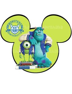 Monsters U DIY Printable Image for Iron on Transfers Disney Mike Sully Monsters inc.