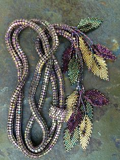 Beaded Belt with Leaves
