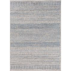 Fowler Gray and Blue Rectangular: 2 Ft. x 3 Ft. Rug