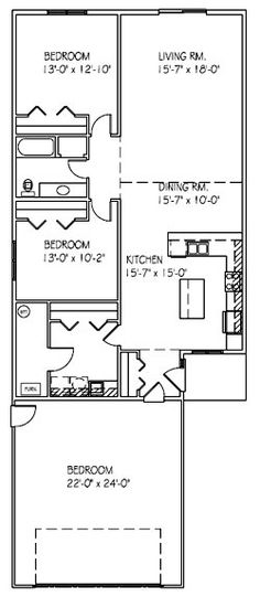 Patio Twin Home Floor Plan