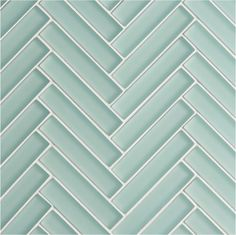 Create contemporary style with our Glacier Blue Glass Herringbone Mosaic tiles, available at Mandarin Stone. Glass Tile Bathroom, Glass Tile Backsplash, Mosaic Glass, Wall Tiles, Glass Tiles, Kitchen Mosaic Tiles, Green Bathroom Tiles, Blue Green Bathrooms, Modern Kitchen Tiles