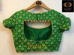20 New Blouse Designs Patterns 2018 ArtsyCraftsyDad Trendy blouse designs Simple Blouse Designs, Stylish Blouse Design, Blouse Back Neck Designs, Fancy Blouse Designs, Silk Saree Blouse Designs, Saree Blouse Patterns, Sari Blouse, Design For Blouse, Golden Blouse Designs