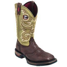 Rocky Boots 8818 Mens Goodyear Welt Square Toe Long Range Western Boots