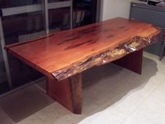 BIG - BLUE GUM Hardwood timber slab dining / outdoor table NEW 2.3 mtr x 900+ | eBay