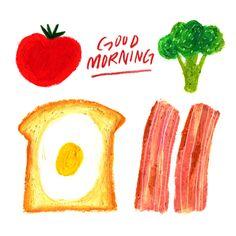 Ideas For Bread Illustration Pattern Behance Bread Shop, Food Sketch, Little Doodles, Art Deco Posters, My Best Recipe, Fruit And Veg, Illustrations And Posters, Cute Illustration, Food Art
