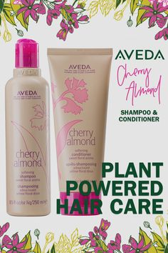 For soft and shiny hair, suds up with Cherry Almond Softening Shampoo and Conditioner — it's a sweet treat! Natural Hair Care, Natural Hair Styles, Aveda Hair, All Things Beauty, Beauty Stuff, Hair Skin Nails, Strong Hair, Hair Care Tips, Shiny Hair