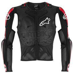 Alpinestars Bionic Pro BNS Protection Jacket - Black White Red Size Large 38.5'- 41.5'' Chest