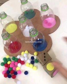 Creative Activities For Kids, Preschool Learning Activities, Alphabet Activities, Preschool Activities, Indoor Activities For Kids, Infant Activities, Toddler Crafts, Crafts For Kids, Kindergarten Learning