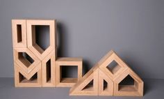 "These different shaped blocks can be arranged and rearranged into playful designs to represent ""where our souls are kept"" – in the home."