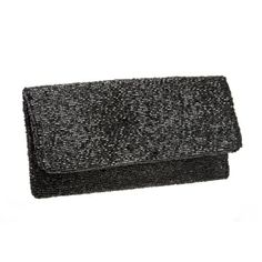Moyna Black Beaded Foldover Clutch Bag | Marlee's by Tappers | Novi | West Bloomfield | Troy | Michigan