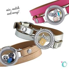 Get wrapped up with the new Origami Owl Genuine Leather Wrap Bracelets. Choose from pink, silver, rose gold, black or burgundy Wraps | Shop StoriedCharms.com