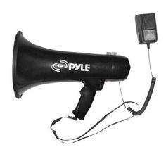 Professional Megaphone PYLE-PRO PMP43IN 40W Bullhorn Siren & 3.5mm Aux-In Music #PylePro