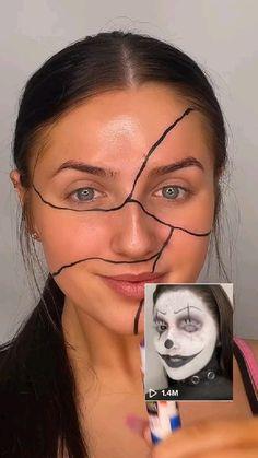 Edgy Makeup, Eye Makeup Art, Crazy Makeup, Cute Makeup, Gorgeous Makeup, Skin Makeup, Beauty Makeup, Amazing Makeup, Amazing Halloween Makeup