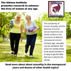 Explore Dr. Cutler's resources on how women can enhance their sexual health during menopausal years here, https://athenainstitute.com/mediaarticles/lookinsidehyh.html  #women #health #menopause
