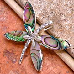 'Abalone Butterfly 18k White Gold Plated' is going up for auction at  9am Wed, Jun 27 with a starting bid of $5.