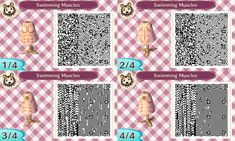 ACNL: Swimming Muscles QR Code by TechieWidget