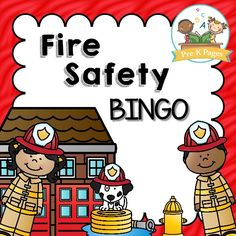 Kids Safety Printable Fire Safety Bingo Game - 59 pages of fun, hands-on fire safety themed literacy activities. Small group activities to help your Preschool, Pre-K, or Kindergarten students meet academic standards. Fire Safety Crafts, Fire Safety For Kids, Fire Safety Week, Child Safety, Bingo, Safety Games, Safety Tips, Fire Prevention Week, Community Helpers Preschool