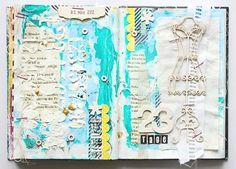 art journal page I used pieces of Wycinanka´s Paris Paris collection