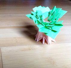 Baobab tree, designed by Toshikazu Kawasaki, folded by Teru Kutsuna.