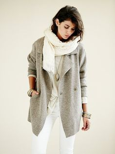 Slouchy Sweater Jacket  by Free People