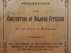 African American Suffrage in Minnesota, 1868 Babylon The Great, African American Women, White Man, Constitution, Minnesota, The Fosters, Politics, How To Apply, Bill Of Rights