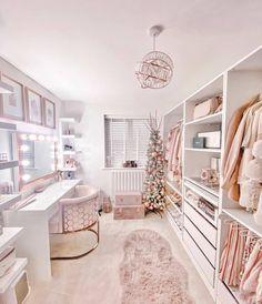 Room Design Bedroom, Girl Bedroom Designs, Room Ideas Bedroom, Home Room Design, Bedroom Decor, Beauty Room Decor, Wardrobe Room, Dressing Room Design, Ikea Dressing Room