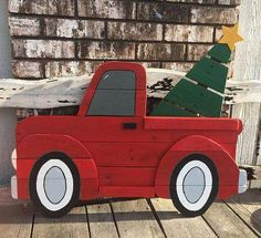 Large Red Christmas Truck Sign / Wooden Red Truck / Christmas Truck with tree / Pallet tree/Christmas decor / Pallet Wood Art / yard art – บล็อกงานฝีมือของฉัน DIY 2019 Christmas Truck With Tree, Pallet Christmas Tree, Green Christmas, Rustic Christmas, Christmas Projects, Christmas Diy, Diy Christmas Yard Decorations, Christmas Trees, Old Fashioned Christmas Decorations